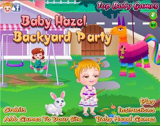 Baby Hazel Backyard Party,Baby games,k7x.com,free online games